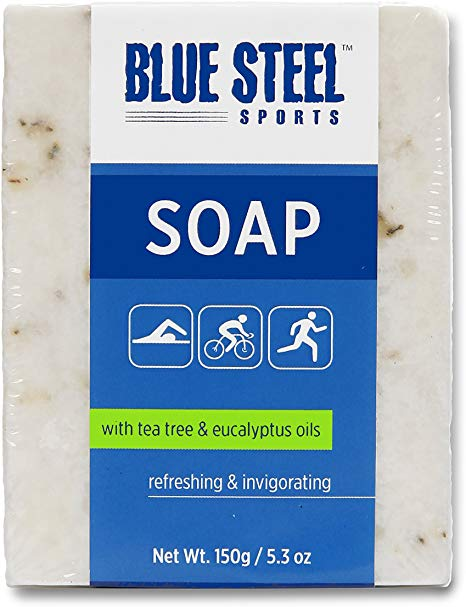 Blue Steel Sports SOAP with Tea Tree and Eucalyptus Oils
